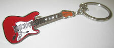 Electric Guitar Key Ring Keyring Music Gift Present Fender Guitarist Red Fob