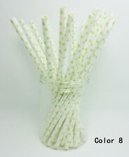25 pcs Paper Drinking Straws Polka Dot Drinking Straws For Party color 8