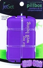 "(New) JetSet 10 Compartment ""For My Well Being"" Pill Box - Airline Friendly"