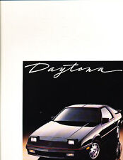 1987 Dodge Daytona Shelby Z Deluxe Original Sales Brochure Catalog J0615