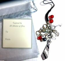 50 Fifty Shades of Grey Inspired Mobile Phone/Bag Charm Gift Bag & Tag Gift