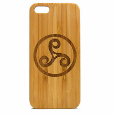 Triskele Case for iPhone SE 5 5S Bamboo Wood Cover Celtic Symbol Knot Teen Wolf