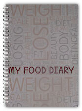 A5 WIRE BOUND DIET DIARY, SLIMMING TRACKER, MY FOOD DIARY, WEIGHT LOSS JOURNAL
