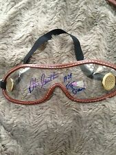 autographed horse racing jockey goggles signed Steve Cauthen (1978 Triple Crown)
