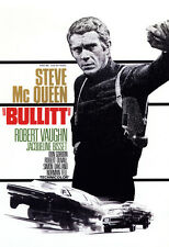 Bullitt Movie Poster, Dramatic Thriller, San Francisco, Steve McQueen