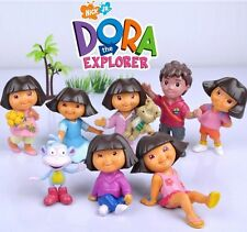8PCS DORA THE EXPLORER ACTION FIGURE KID FIGURINES DISPLAY TOY CAKE DECOR TOPPER