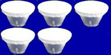 """Five  7"""" White Diffuser Sock for Interfit Reflector Beauty Dish NEW"""