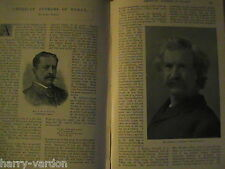 American Authors Writer Aldrich Twain Jewett Page Antique Victorian Article 1898