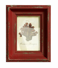 Vintage Style Distressed Wood Red Coloured Wooden Picture/ Photo Frame