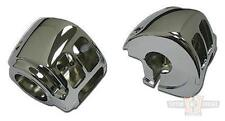 Chrome Handlebar switch housing set 2011 and later Harley-Davidson