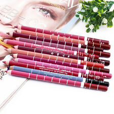 New 12 PCS Professional Lipliner Waterproof Lip Liner Pencil 15CM SN