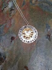 Sterling Silver and Gold hand stamped personalized necklace