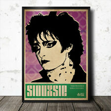 Siouxsie Sioux Art Poster Music Punk Sex Pistols Bansheees Sid Vicious Ramones
