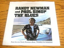 "RANDY NEWMAN & PAUL SIMON - THE BLUES   7"" VINYL  PS"