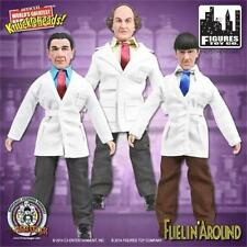 """The Three Stooges Larry Moe Shemp 8"""" Retro Action Figure Toy Co Fuelin Around"""