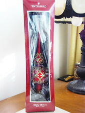 Waterford Holiday Heirlooms OPULENCE RUBY Tree Topper Ornament - NEW / BOX!