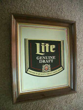 Vintage 1980s Miller Lite Genuine Draft Beer 24x28 Official Advertising Mirror!