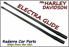 "13"" SHORT Custom Flexible Rubber Antenna Masts - Fits: 1989-2016 Harley Davidson"