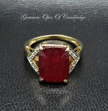 9ct Gold 7.2ct Ruby and Diamond Ring Size N 4.17g