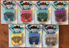 DISNEYLAND DIAMOND PIN SET 60TH ANNIVERSARY CELEBRATION COMPLETE SET OF 7 PINS