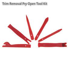 Car Interior Trim Door Panel Dash Centre Console Pry Open Tools 6Pcs Red Nylon