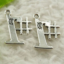 240 pieces tibet silver 1# charms 17x12mm #4654 free ship