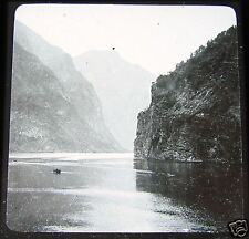 Glass Magic lantern slide NAROFJORD SOGN C1900 NORWAY