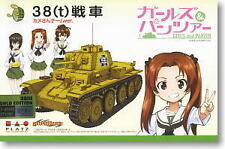 Platz 1/35 Girls Und Panzer 38(t) Gold Edition