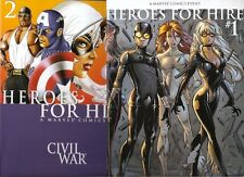 Heroes For Hire 1 2 Nm Civil War Tie In 1st  2nd Print Variants Palmiotti Tucci