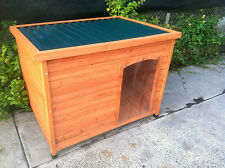 DOG KENNEL NEW WOODEN HOUSE TIN ROOF BIG DOG HOUSE XLarge CABIN FREE PICKUP