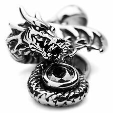 MENDINO Men's Stainless Steel Pendant Chain Necklace Tribal Dragon Gothic Biker