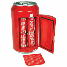 COCA-COLA Can Refrigerator Compact Mini Red Countertop Coke Soda Fridge NEW!