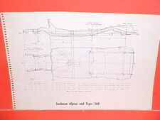 1967 SUNBEAM ALPINE GT TIGER 260 CONVERTIBLE ROADSTER IMP FRAME DIMENSION CHART