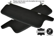 GREY STITCH 2X SUN VISORS LEATHER COVERS FITS TOYOTA HILUX 4 RUNNER 1997-2004