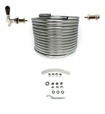 DIY Draft Jockey Box Kegerator Conversion Kit 50-ft Stainless Steel Coil KDBX50