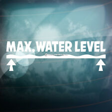 MAX MAXIMUM WATER LEVEL Funny 4x4,Car,Window LAND DUB VAG Vinyl Decal Sticker