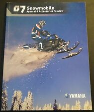 2007 YAMAHA SNOWMOBILE ACCESSORIES & APPAREL PREVIEW SALES BROCHURE (167)