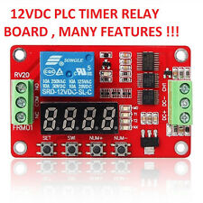USA! 2PCS - 12 VDC PLC CYCLE TIMER, MULTIFUNCTION DELAY MODULE,MANY SETTINGS !!