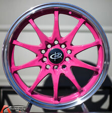 16X7 +40 ROTA FIGHTER 10 5X114.3 PINK WHEEL FITS CIVIC SI PRELUDE ACCORD CRZ MR2