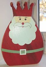 20cm Free-standing FATHER CHRISTMAS Santa WOODEN ORNAMENT decoration rrp £6
