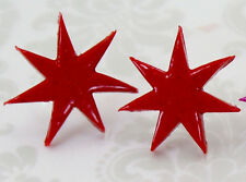 Jem and the Holograms Star 2 CM Earrings - Handmade Misfits 80's Synergy Retro