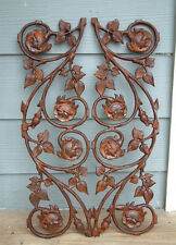 CLASSIC ROSE Cast Iron Southern Garden Fence Panel
