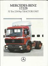 MERCEDES BENZ 1722S 32 TON 224 BHP TRACTOR UNIT TRUCK BROCHURE 1992
