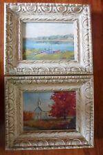 (2) vintage original oil paintings from an artist named Adams