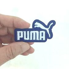 PUMA WHITHE ON BLUE LOGO IRON ON PATCH T-SHIRT JEANS CAP HAT BAGS EMBROIDERED