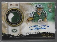2015 Valor Shield of Honor Bryce Petty Auto 2 Color Jersey Rc # to 800