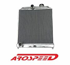 AROSPEED POLISHED ALUMINUM DUAL CORE RADIATOR FOR HONDA CIVIC DEL SOL EG EK