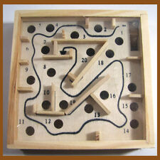 Wooded Maze Labyrinth Moving Puzzle Game Wooden Tilt Box Toy Physical Skill