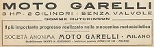 Y7855 Moto GARELLI 3 HP - Pubblicità d'epoca - 1921 Old advertising