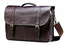 Leather Flapover Case Business Briefcase Laptop Computer Travel Messenger Bag